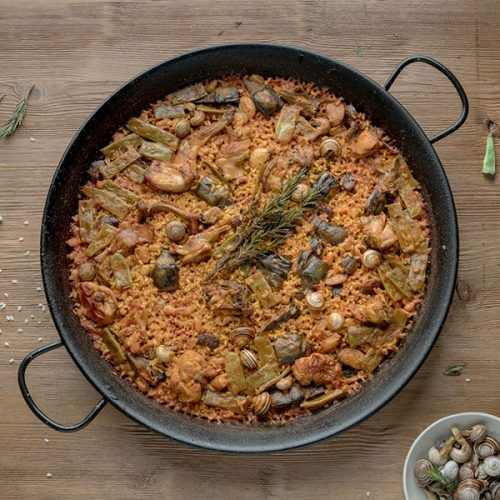 paella valenciana receta