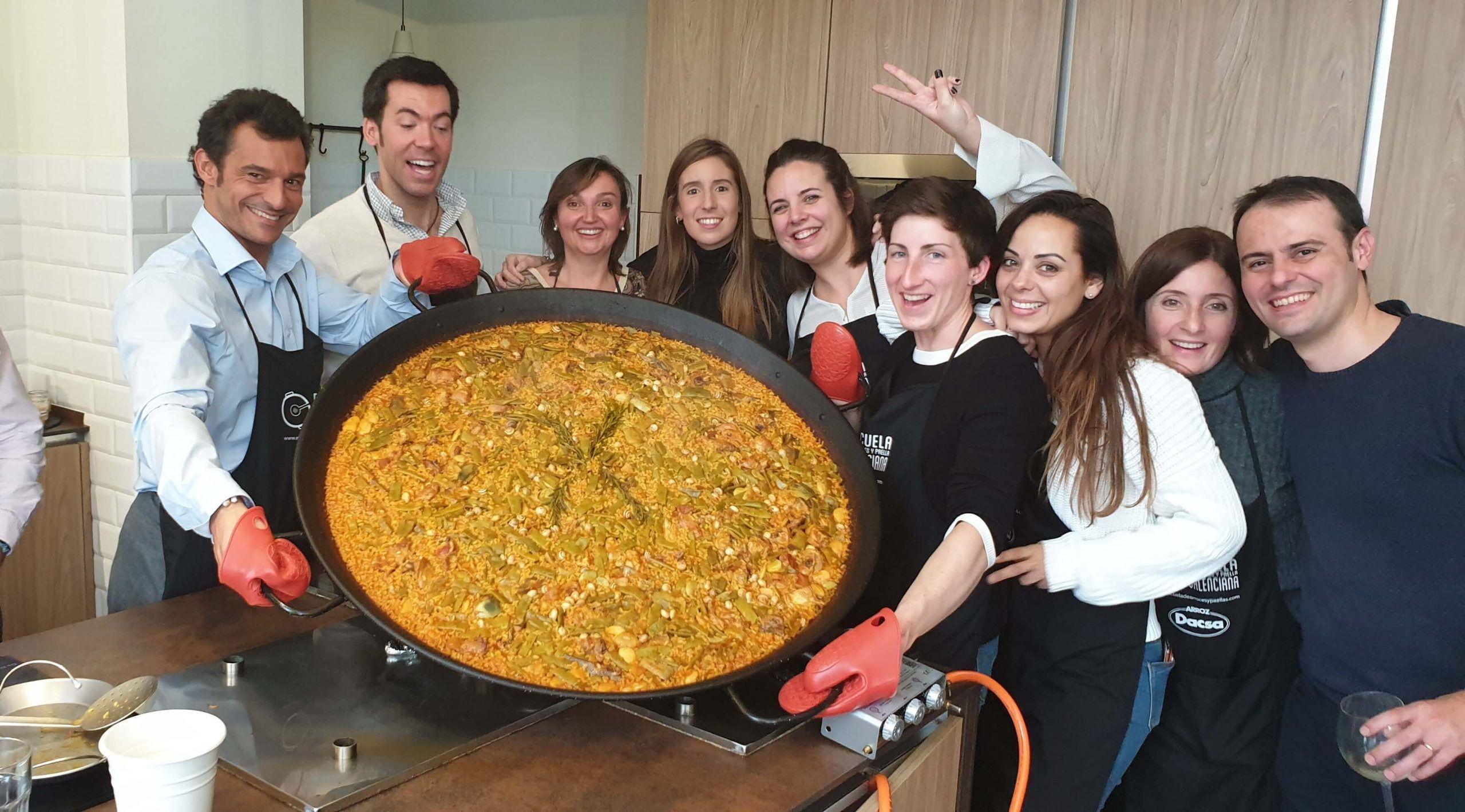 Cocinar Paella Valenciana